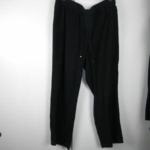 Lane Bryant linen blend wide leg pants size 18/20